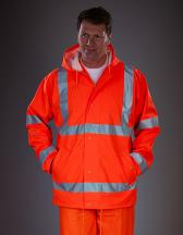 Hi-Vis Soft Flex Breathable Rain Jacket